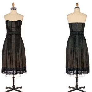 Odille by Anthropologie dress- sheer and lace Sz 6